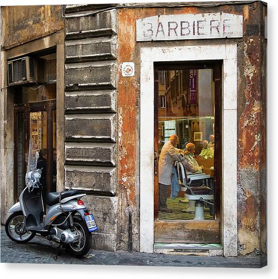 Barbiere Canvas Print
