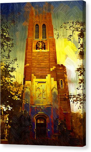 Michigan State University Canvas Print - Beaumont Tower  by Paul Bartoszek