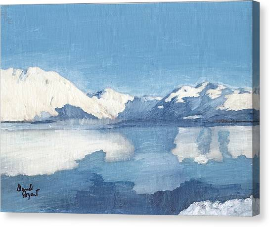 Blue Alaska Canvas Print by David Poyant