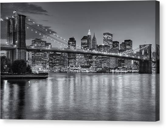 Brooklyn Bridge Twilight II Canvas Print