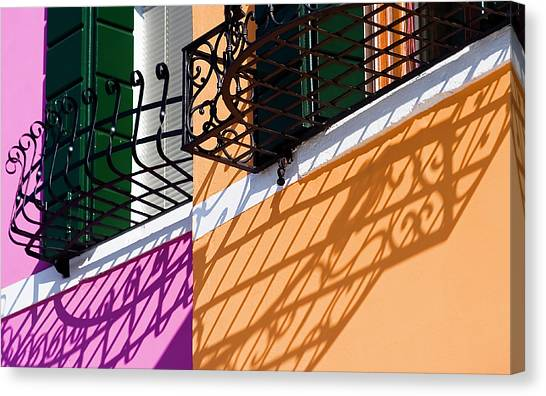Burano Houses Canvas Print