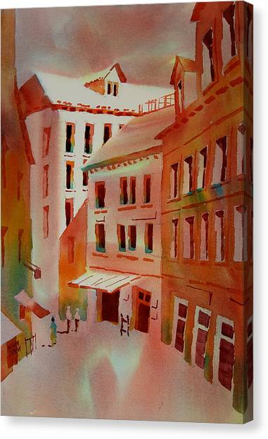 Calle De La Pieta Venice Italy Canvas Print
