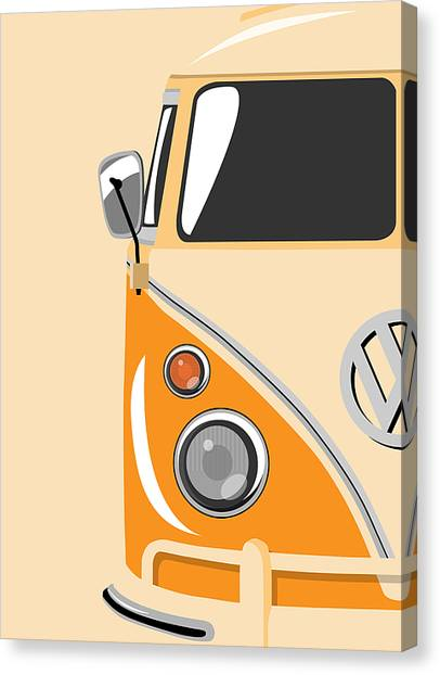 Pop Art Canvas Print - Camper Orange by Michael Tompsett