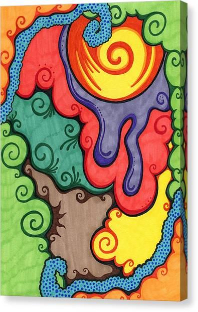 Caribbean Colors Canvas Print