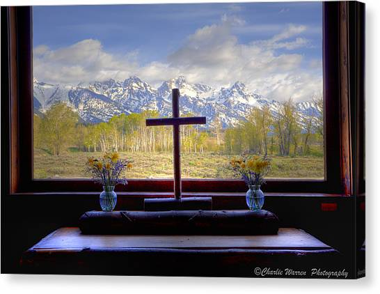 Chapel With A View Canvas Print