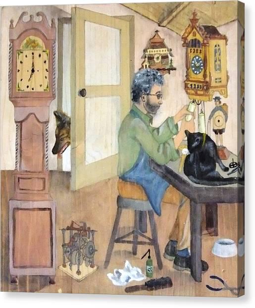 Clockmaker 1 Canvas Print