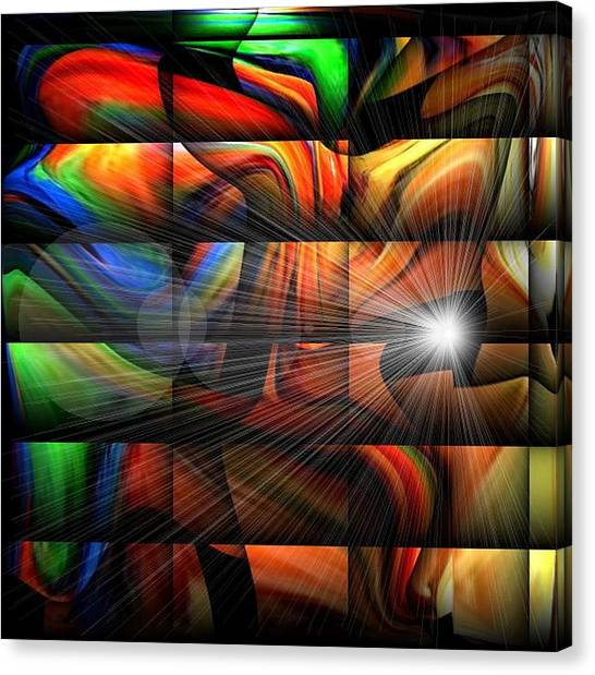 Colorful Abstract Sunburst Canvas Print by Teo Alfonso
