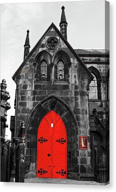 Edinburgh Door Canvas Print
