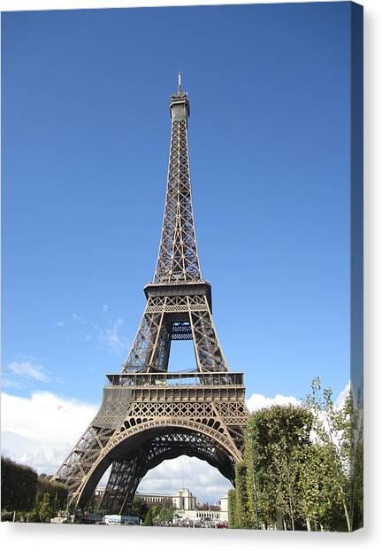 Eiffel Tower Tarped Ix Paris France Canvas Print