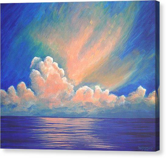 Evening Sky Canvas Print by Dee Youmans-Miller