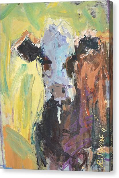 Expressive Cow Artwork Canvas Print