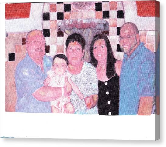 Family Canvas Print by David Poyant