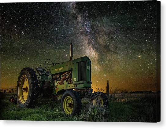 John Deere Canvas Print - Farming The Rift 3 by Aaron J Groen