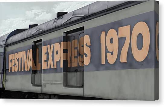 Festival Express Canvas Print