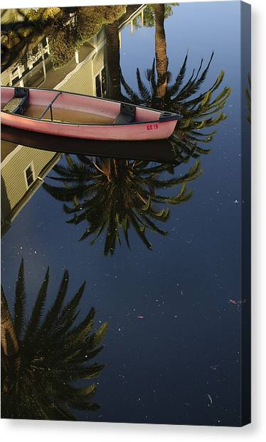 Floating On Palms Canvas Print