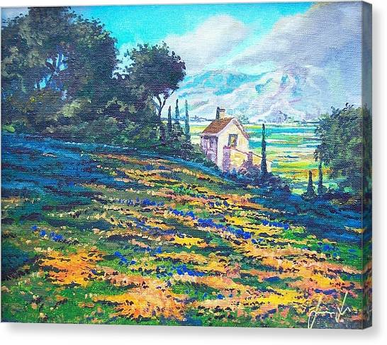 Flower Hill Canvas Print by Sinisa Saratlic
