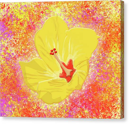 Flower In Bloom Canvas Print by Melissa Stinson-Borg