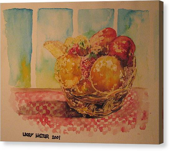 Fruitbasket Canvas Print by Larry Whitler