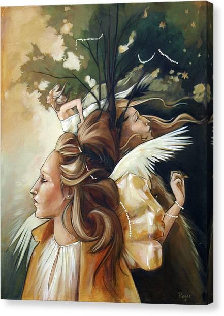 Gold Leaf Mysticism Canvas Print by Jacque Hudson