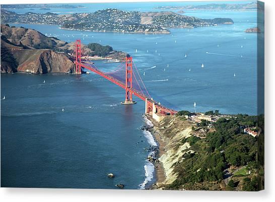 Usa Canvas Print - Golden Gate Bridge by Stickney Design