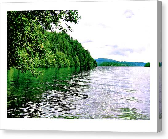Green Lake Canvas Print by J D Banks