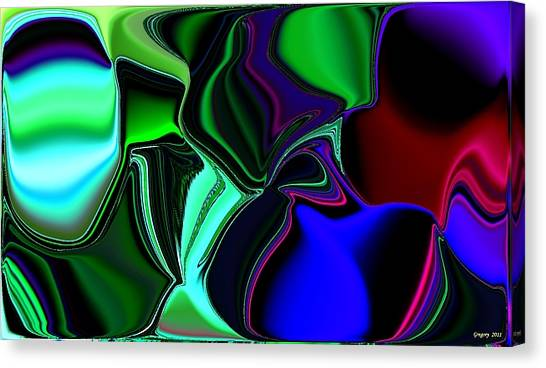 Green Nite Distortions 4 Canvas Print