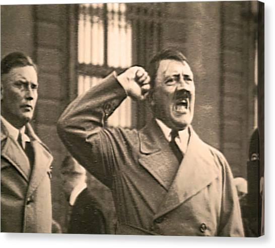 Hitler The Orator Canvas Print
