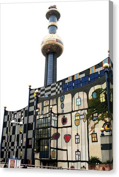 Hundertwasser Building Canvas Print