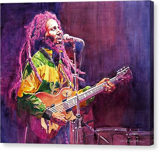Recommended Canvas Print - Jammin - Bob Marley by David Lloyd Glover