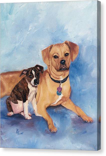 Jaz And Lily Canvas Print by Brenda Thour