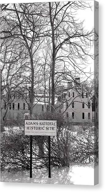 John Quincy Adams House Ll Canvas Print by Heather Weikel