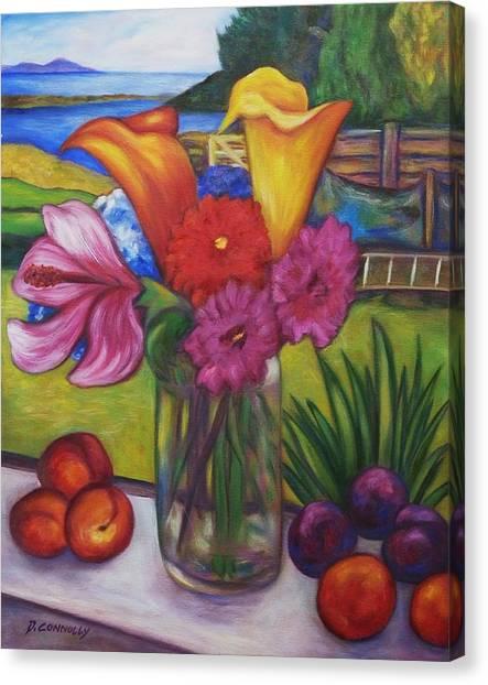 Kitchen Window View Canvas Print