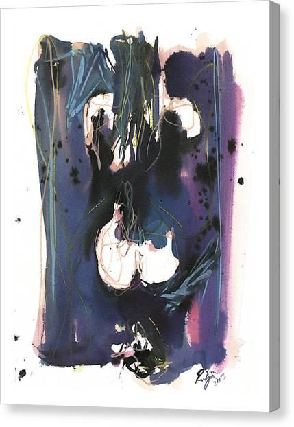 Kneeling Canvas Print