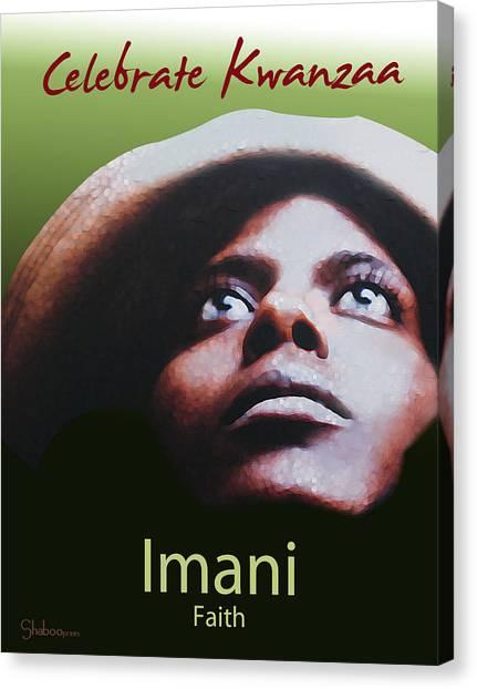 Kwanzaa Imani Canvas Print