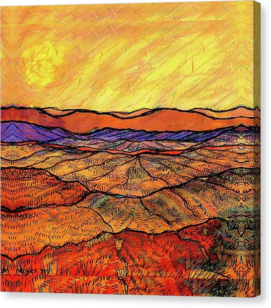 Landscape In Yellow Canvas Print