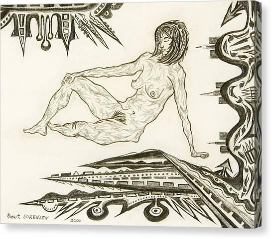 Live Nude 4 Female Canvas Print