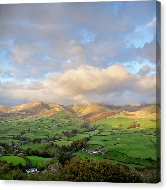 Hill Canvas Print - Lune Valley And Howgill Fells by David Barrett
