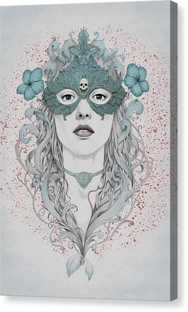 Masked Canvas Print by Diego Fernandez