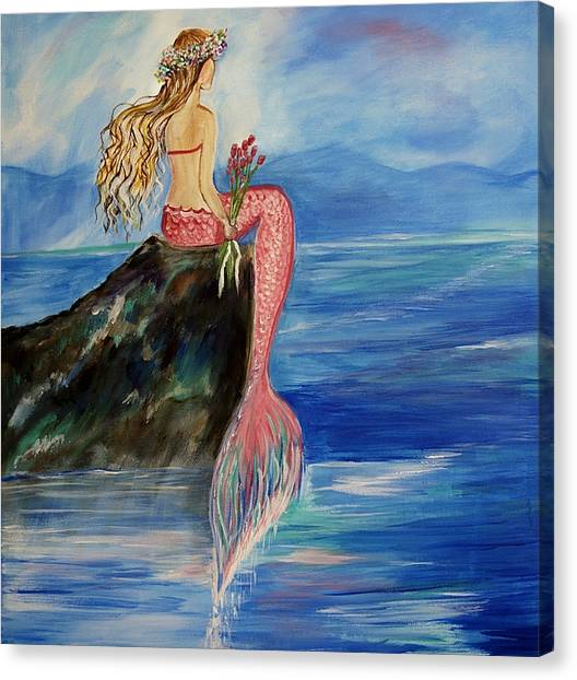 Mermaid Wishes Canvas Print