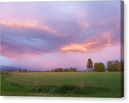 Montana Sunsets 3 Canvas Print