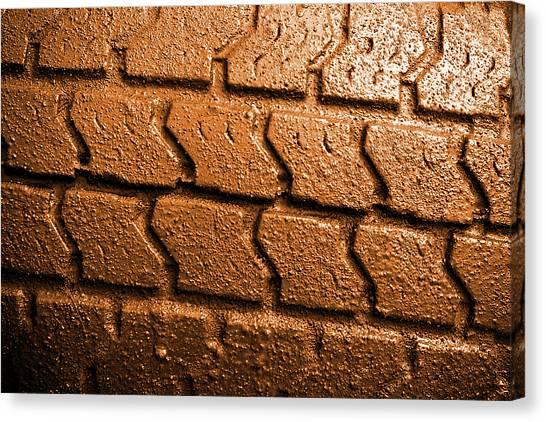 Offroading Canvas Print - Muddy Tire by Carlos Caetano