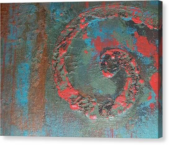 Neon Scroll Canvas Print