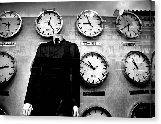 No Head For Time Man Canvas Print