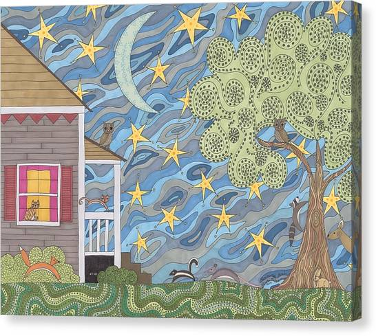 Nocturnal Parade Canvas Print