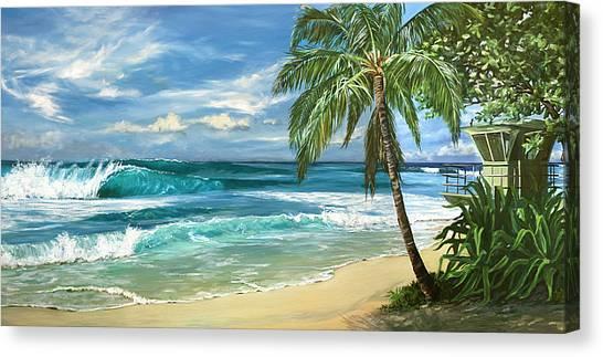 Lifeguard Canvas Print - North Shore by Lisa Reinhardt