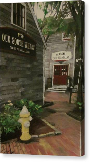 Old South Wharf Canvas Print by David Poyant