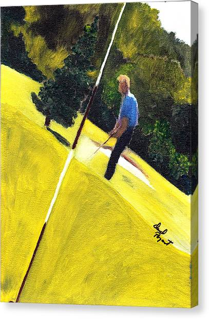 One Putt Away Canvas Print by David Poyant