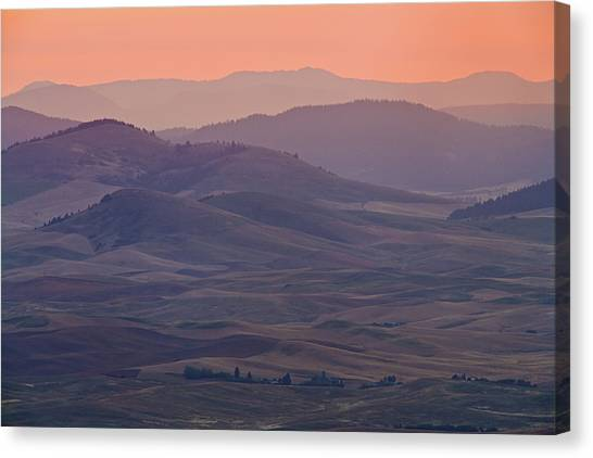 Mountain Ranges Canvas Print - Palouse Morning From Steptoe Butte by Donald E. Hall
