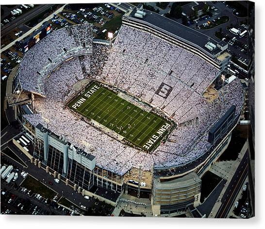 Notre Dame University Canvas Print - Penn State Aerial View Of Beaver Stadium by Steve Manuel