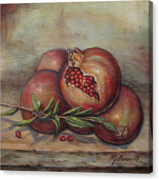 Pomegranetes Canvas Print